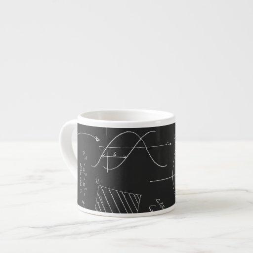 Pizarra de la matemáticas taza de espresso