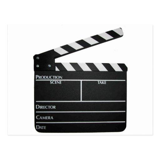 Pizarra de la película de la película de la tarjeta postal