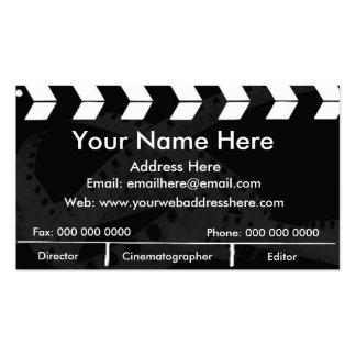 Pizarra de la película tarjetas de visita