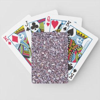 Pizarra de la piedra caliza del ciruelo baraja cartas de poker