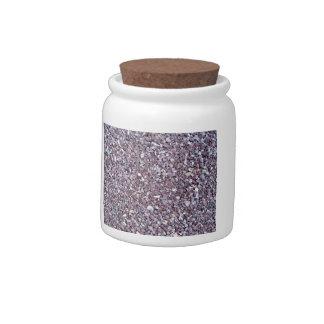 Pizarra de la piedra caliza del ciruelo jarra para caramelo