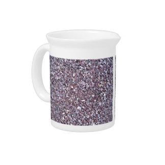Pizarra de la piedra caliza del ciruelo jarras para bebida