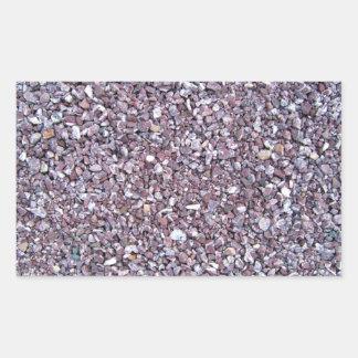 Pizarra de la piedra caliza del ciruelo rectangular pegatinas
