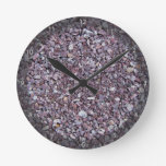 Pizarra de la piedra caliza del ciruelo reloj de pared