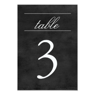 Pizarra de la tarjeta el | del número de la tabla invitación 8,9 x 12,7 cm