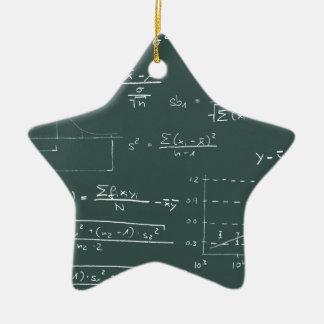 Pizarra de las estadísticas adorno navideño de cerámica en forma de estrella