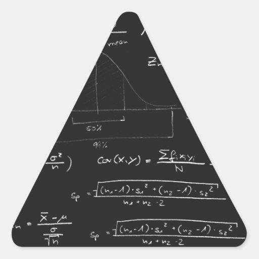 Pizarra de las estadísticas pegatina triangular