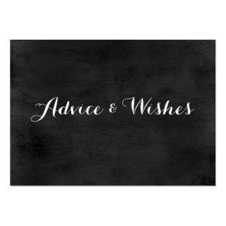 Pizarra de las invitaciones de boda del consejo y tarjetas de visita grandes