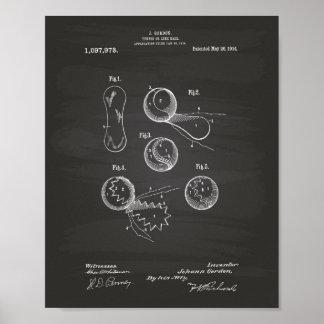 Pizarra del arte de la patente de la pelota de póster