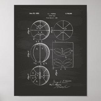 Pizarra del arte de la patente del baloncesto 1929 póster
