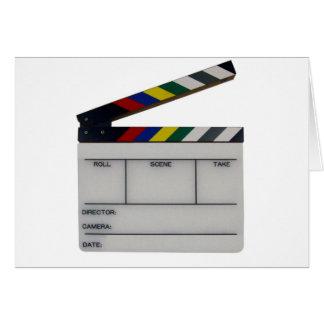 Pizarra del cineasta de la película de la tablilla tarjeta de felicitación