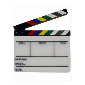 Pizarra del cineasta de la película de la tablilla tarjeta postal