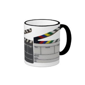 Pizarra del cineasta de la película de la tablilla taza