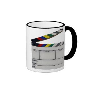 Pizarra del cineasta de la película de la tablilla taza de dos colores