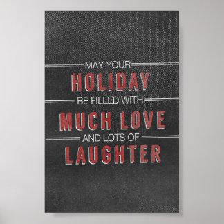 pizarra del navidad del amor de la risa del día de póster