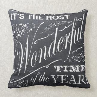 pizarra del navidad del día de fiesta almohada