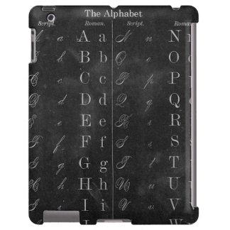 Pizarra del vintage con alfabeto funda para iPad