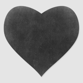 Pizarra en blanco - empaquetado adaptable del pegatina en forma de corazón