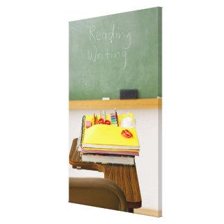 Pizarra en sala de clase impresión en lona