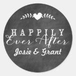 Pizarra feliz nunca después de casar al pegatina