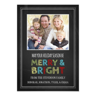 Pizarra feliz y brillante de la tarjeta de la foto invitación 12,7 x 17,8 cm