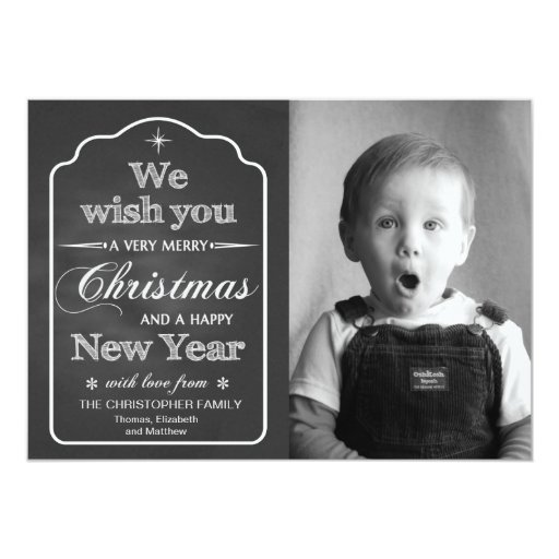 Pizarra - le deseamos las Felices Navidad de Comunicado Personalizado