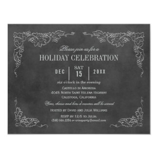 Pizarra negra de la invitación el | del fiesta del invitación 10,8 x 13,9 cm