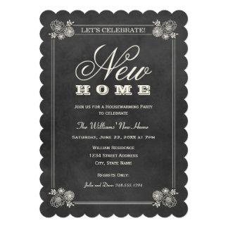 Pizarra negra de las invitaciones el   del fiesta  invitacion personalizada