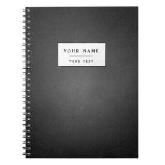 Pizarra negra rústica impresa cuadernos