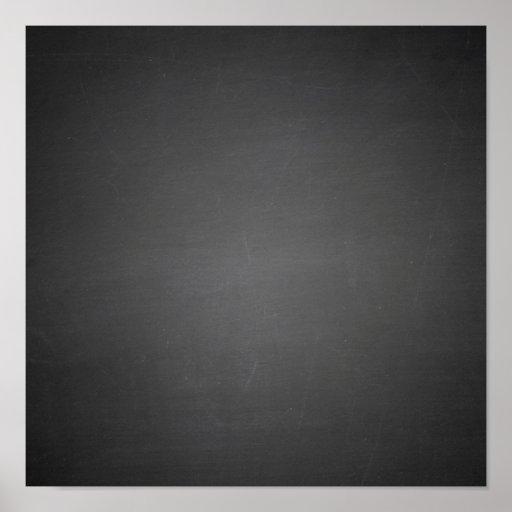 Pizarra negra rústica impresa poster