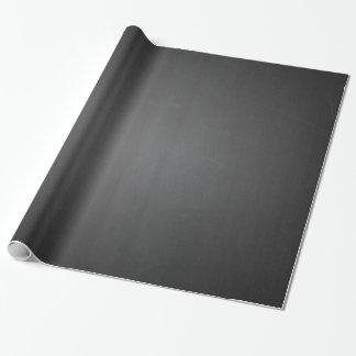 Pizarra negra rústica impresa papel de regalo