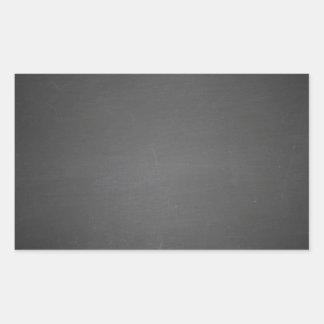 Pizarra negra rústica impresa pegatina rectangular