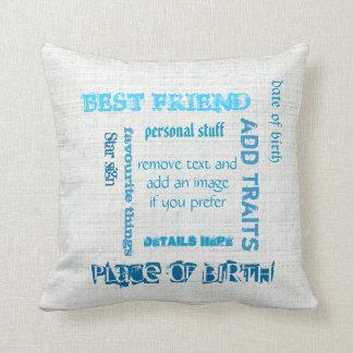 Pizarra personalizada del wordcloud de los mejores almohadas