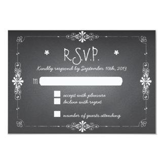 Pizarra que casa la tarjeta de la respuesta de invitación 8,9 x 12,7 cm