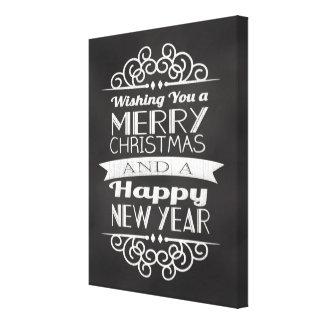 Pizarra que le desea Felices Navidad Impresiones De Lienzo
