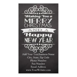 Pizarra que le desea Felices Navidad Tarjetas De Visita