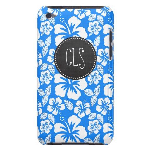 Pizarra retra; Hibisco tropical azul azul Case-Mate iPod Touch Protector