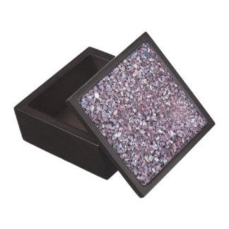 Pizarra rosada de la piedra caliza del ciruelo caja de joyas de calidad