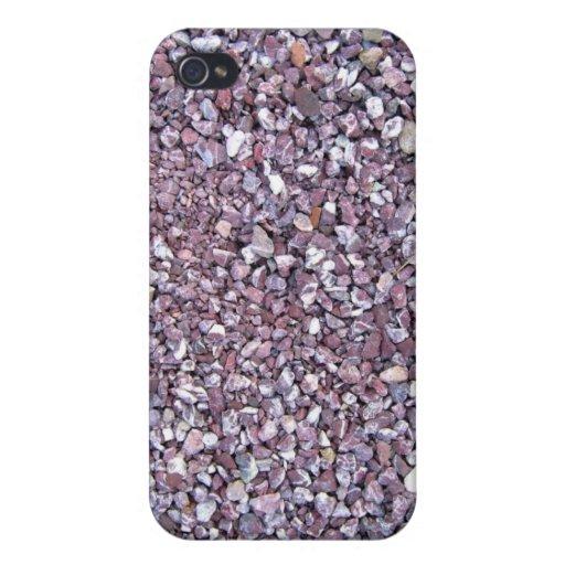 Pizarra rosada de la piedra caliza del ciruelo iPhone 4/4S fundas