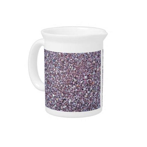 Pizarra rosada de la piedra caliza del ciruelo jarra para bebida