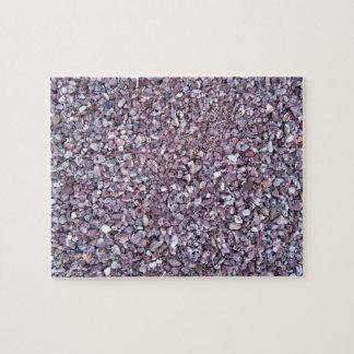 Pizarra rosada de la piedra caliza del ciruelo puzzle con fotos