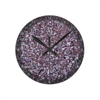 Pizarra rosada de la piedra caliza del ciruelo relojes de pared
