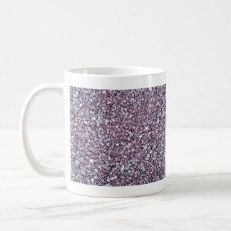 Pizarra rosada de la piedra caliza del ciruelo taza de café