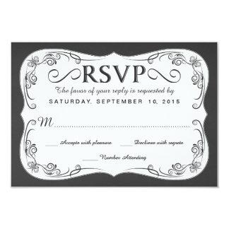 Pizarra RSVP del vintage que casa tarjetas de Invitaciones Personalizada
