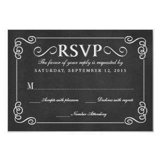 Pizarra rústica elegante que casa RSVP Invitación 8,9 X 12,7 Cm