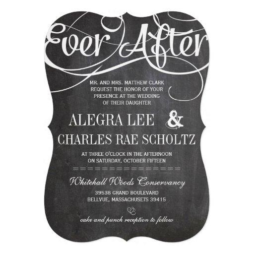 Pizarra rústica romántica de EverAfter de la pizar Anuncio
