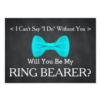"""Pizarra usted será mi portador de anillo invitación 5"""" x 7"""""""