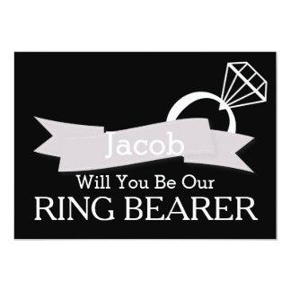 """Pizarra usted será nuestro portador de anillo invitación 5"""" x 7"""""""