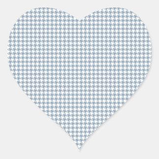 Pizarra y blanco de Houndstooth Pegatina De Corazón Personalizadas