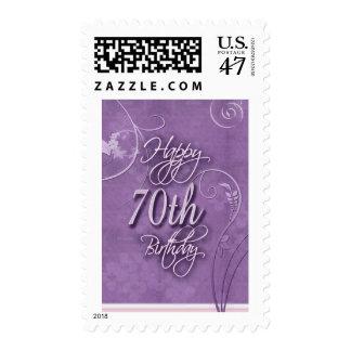 Pizazz púrpura para el 70.o cumpleaños estampillas